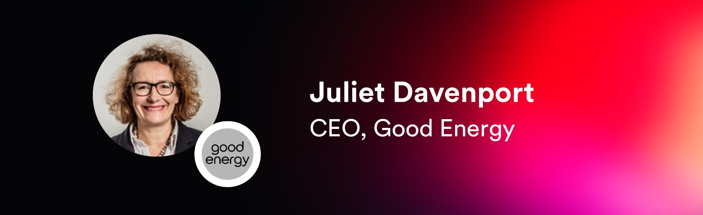 Juliet Davenport, CEO of Good Energy